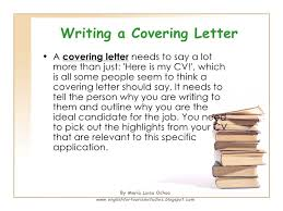 how to write a cv and a covering letter