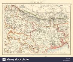 Ne Map British India Ne Bengal Nepal Bhutan Calcutta Bangladesh