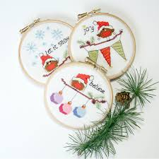 cross stitch cards and ornaments 3 modern