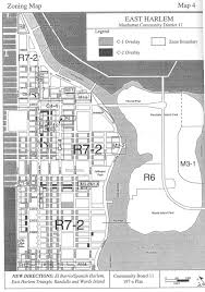 New York City Zoning Map by East Harlem Land Use