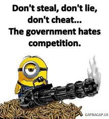 Minion Meme Images - funny minion meme about government vs competitions gap ba gap
