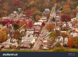 river town usa aerial view autumn stock photo 2139977 shutterstock