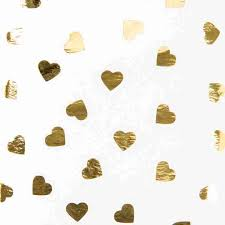 gold foil tissue paper printed foil gold heart tissue paper