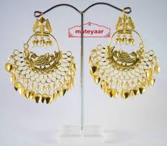lotan earrings made gold plated morni design traditional punjabi earrings