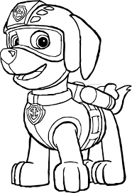 paw patrol coloring pages wecoloringpage