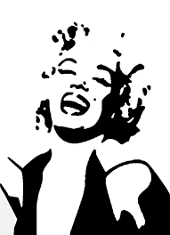 Marilyn Monroe Wall Sticker Marilyn Monroe Face V 2 Medium Vinyl Wall Decal By Wallstickz