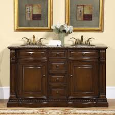 Vanity Countertops With Sink Amazon Com Silkroad Exclusive Granite Ivory Stone Top Double Sink