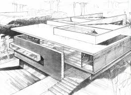 modern home architecture sketches