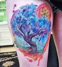 colorful amazing tree of tree on thigh golfian com