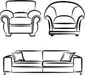 vector drawing on the sofa stock vector art 452196857 istock