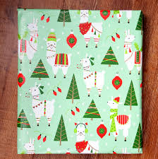 llama christmas wrapping paper holiday gift wrap 10 ft x 2
