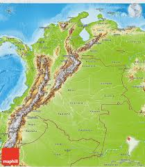 Terrain Map Physical 3d Map Of Colombia