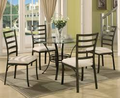 Metal Top Dining Room Table Glass Dining Table With Metal Base Miramont Round Dining Table