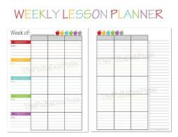 printable weekly menu template lesson plan calendar elipalteco