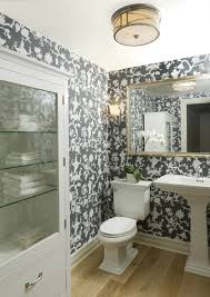 Toile Bathroom Wallpaper by Spectacular Toile Wallpaper Decorating Ideas For Bathroom
