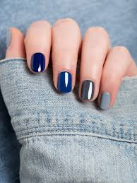 mix or match nail colors that look great with denim