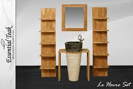 teakline collection u2013 teak badkamermeubelen le havre series