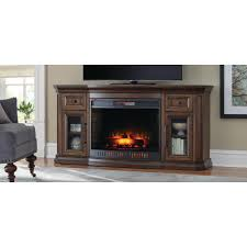 home decorators collection georgian hills 65 in bow front tv stand infrared electric fireplace in
