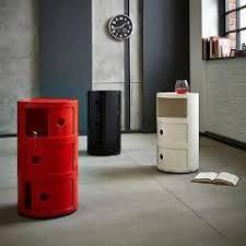 ec furniture plastic round mini bedside lockers modern minimalist