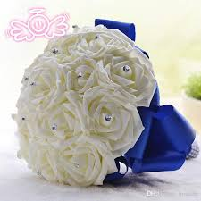 wedding flowers royal blue artificial bridesmaid flowers wedding flowers bridal bouquets