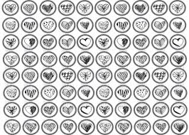 sketch of hearts icons vector clipart image 68991 u2013 rfclipart