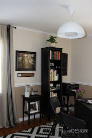 home office in a monochromatic scheme benjamin moore natural