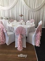 pink chair covers 100 blush pink chiffon hoods with ruffle tails for hire wedding