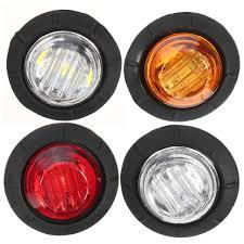 led side marker lights for trucks 12v car truck trailer round led bullet button rear side mini marker