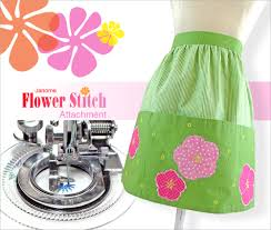 machine accessories we love janome flower stitch attachment
