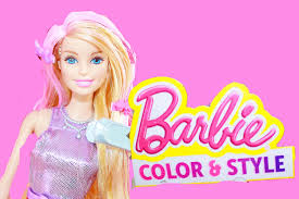 barbie color change hair mattel style playset barbie hair makeover