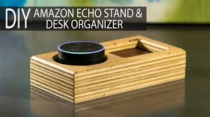 Leather Desk Organizer by Diy Amazon Echo Stand Desk Organizer From Scrap Plywood
