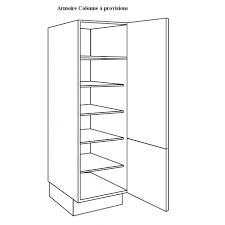 colonne de cuisine 60 cm armoire colonne à vaisselle largeur 60cm