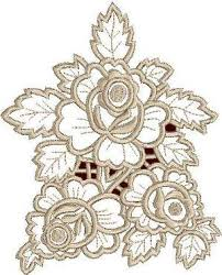advanced embroidery designs three roses lace