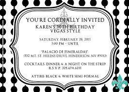 attire wording 50th birthday party invite wording invitation ideas