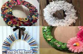 diy wreaths 8 diy wreaths from basic laundry room supplies