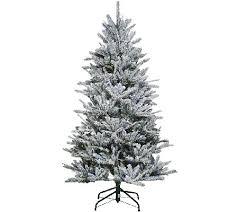 santa s best snow flurry tree w 7 function lights qvc