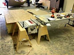 Cheap Table Saws The Questionably Safe Table Saw Setup And Out Feed Table He