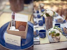 themed wedding favors cing themed rustic outdoor wedding make your own smores wedding