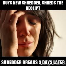 Shredding Meme - ditch the office shredder hire a professional this year