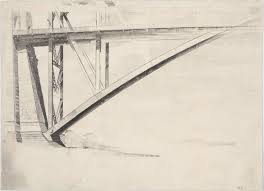 end of the deck sydney harbour bridge 1932 by lloyd rees