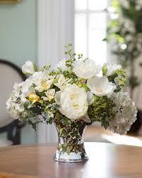 peony arrangement shop designer silk hydrangea peony centerpiece arrangement at