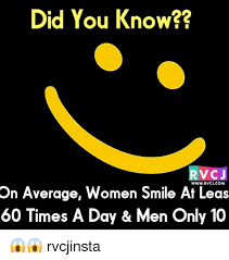 did you know rv cj wwwrvcjcom on average women smile at leas 60
