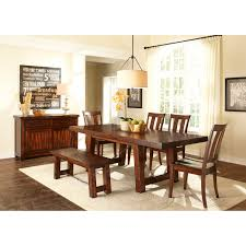 Dining Room Table Set With Bench Liberty Furniture Tahoe Trestle Dining Table Hayneedle