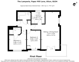 Estate Agents Floor Plans by The Lamports Alton 2 Bed Flat For Sale 239 950