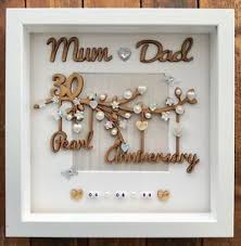 30th wedding anniversary gift sale handmade personalised pearl 30th wedding anniversary gift frame