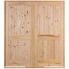 48 Exterior Door 48 2 Panel Arch Top Knotty Pine Interior Door Unit