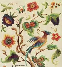 Flower Designs For Embroidery Best 25 Jacobean Embroidery Ideas On Pinterest Crewel
