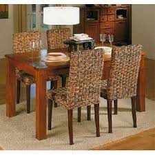Wicker Dining Room Chairs Indoor Batavia Rattan Banana Abaca Dining Set Chair And Table Woven