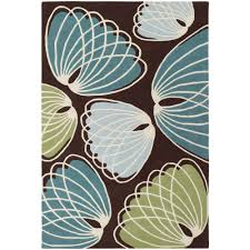 Brown Throw Rugs Chandra Inhabit Brown Green Blue White 5 Ft X 7 Ft 6 In Indoor