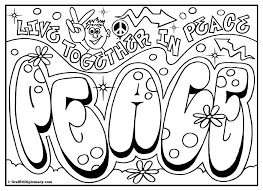 peace coloring page
